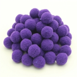 10mm Pom-poms (100 pack) - Purple