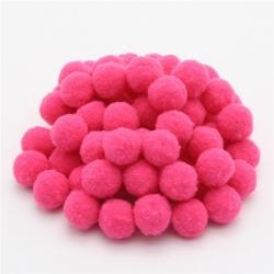 10mm Pom-poms (100 pack) - Burgundy