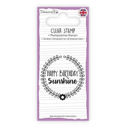 Dovecraft Clear Sentiment Stamp - Sunshine (DCSTP061)
