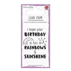 DCSTP142 Dovecraft Clear Stamp - Rainbows