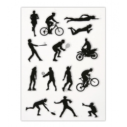 Clear Stamp set - Sports Figures 2 (12pcs)