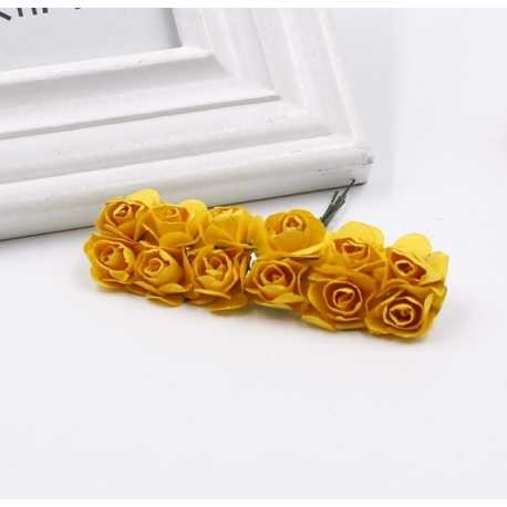 Paper Roses - Yellow (Bunch of 12)