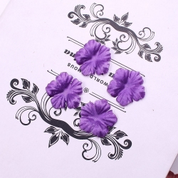 Silk 2.5cm Flower-heads - Purple (100pcs)