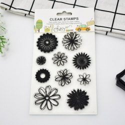 Clear stamp set - Gerbera (10pcs)