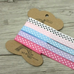 Ribbon Assortment - Grosgrain Polka dot (5pcs)