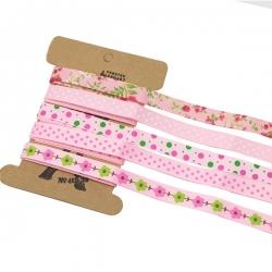 Ribbon Assortment - Grosgrain Pinks (5pcs)