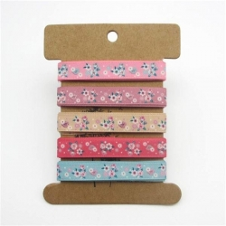 Ribbon Assortment - Grosgrain Florals (5pcs)