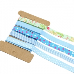 Ribbon Assortment - Grosgrain Blues (5pcs)