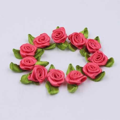Ribbon Roses - Cerise (48pcs)