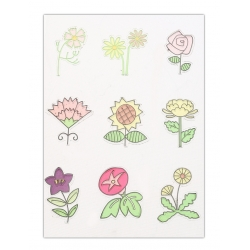 Clear stamp set - 9 Flowers