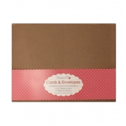 Dovecraft Cards and Envelopes C6 Kraft 30 pack (DCCE048)