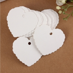 Heart Tags - White (50pcs)