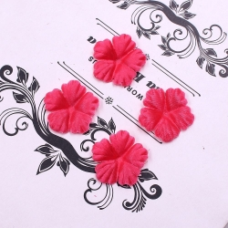 Silk 2.5cm Flower-heads - Fuchsia (100pcs)