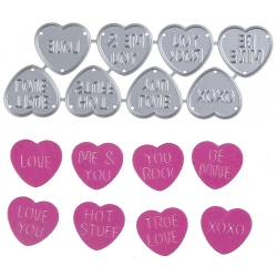 Printable Heaven dies - Love Hearts (8pcs)