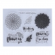 Clear stamp set - Flowers & Verses (8pcs)