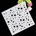 13 x 13cm Reusable Stencil - Stars (1pc)