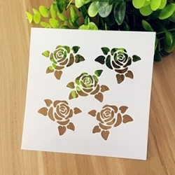 Reusable Stencil - 5 Roses (1pc)