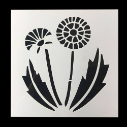 13 x 13cm Reusable Stencil - Dandelion (1pc)