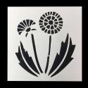 13 x 13cm Reusable Stencil - Dandelion (1pc)