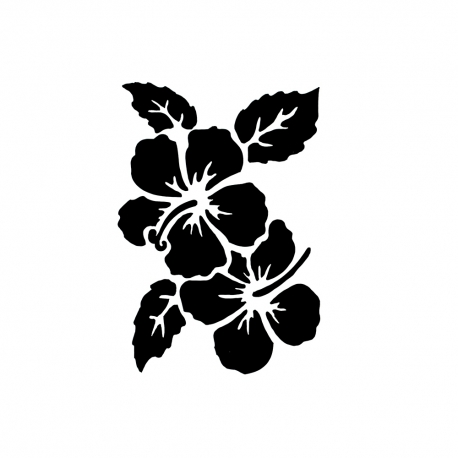 Reusable Stencil Hibiscus 1pc