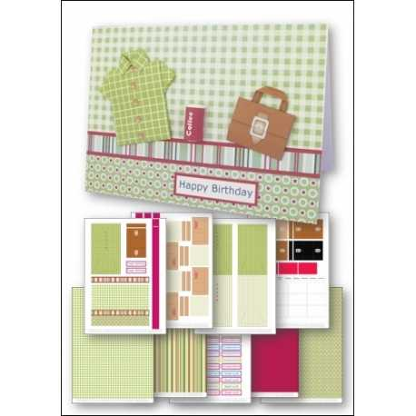 Download - Card Kit - Origami Shirt & Briefcase Card