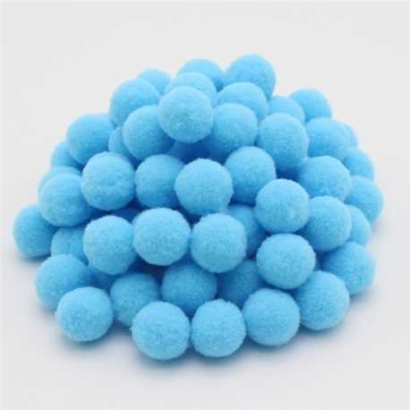 10mm Pom-poms (100 pack) - Pale blue