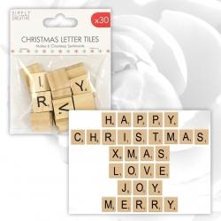 Sinply Creative Christmas Basics Tile Letters (SCWDN010X17)
