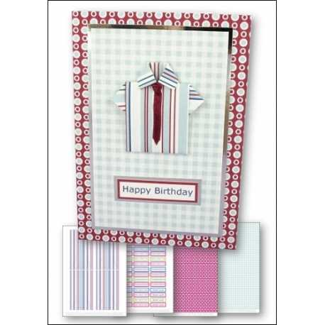 Download - Card Kit - Origami Shirt & Ribbon Tie card