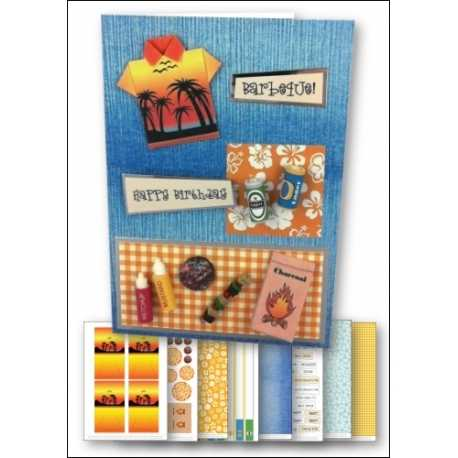 Download - Card Kit - Barbeque Origami Shirt