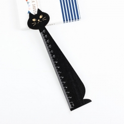 Wooden Cat Ruler - Black
