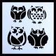 Paint Stencil - Owls