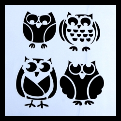 Reusable Stencil - Owls (1pc)