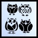 Reusable Stencil - Owls (1pc)