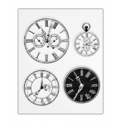 Clear stamp set - Clocks/Watches (4pcs)