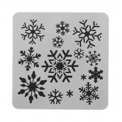 13 x 13cm Reusable Stencil - Snowflakes (1pc)