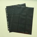18-pocket Ring-binder page - Black (1pc)
