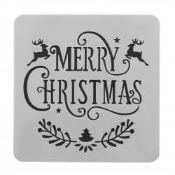 Paint Stencil - Merry Christmas (1pc)