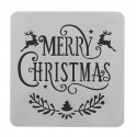 13 x 13cm Reusable Stencil - Merry Christmas (1pc)