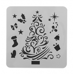 13 x 13cm Reusable Stencil - Christmas Tree (1pc)