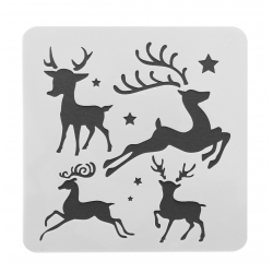 13 x 13cm Reusable Stencil - Reindeer (1pc)