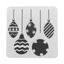 Paint Stencil - Baubles (1pc)