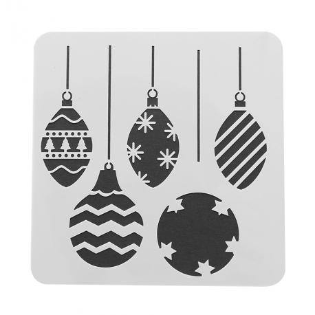 Reusable Stencil - Baubles (1pc)
