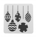 13 x 13cm Reusable Stencil - Baubles (1pc)