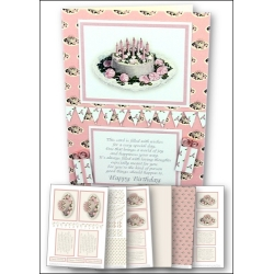 Download - Card Kit - Pretty Pink Birthday Cake
