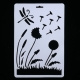 Large Plastic Stencil - Dandelion Clocks & Dragonfly (1pc)