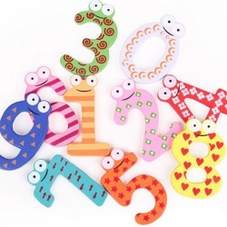 Wooden Painted Birthday Numbers (10pcs)