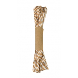 10m Striped Twine - Natural