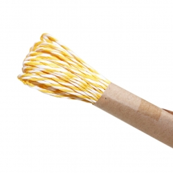 10m Striped Twine - Yellow