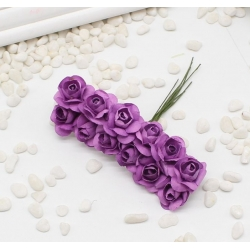 Paper Roses - Light Purple (Bunch of 12)