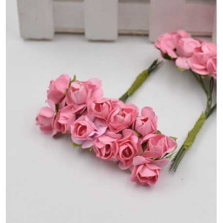 Paper Roses - Peachy Pink (Bunch of 12)